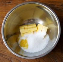 Butter+zest+sugar