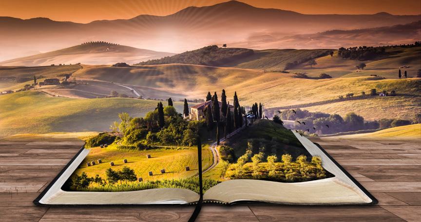 fairy tale book landscape