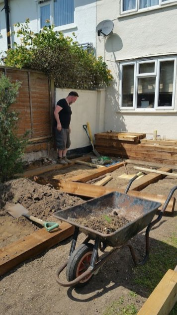 making a patio