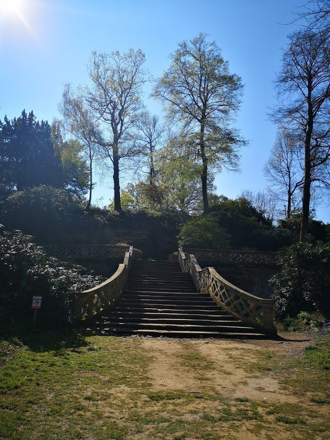 Hever castle stairs