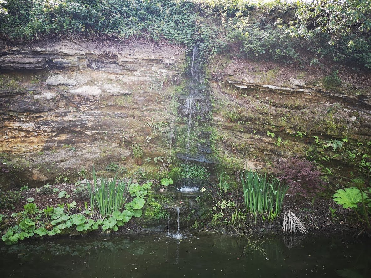 Hever castle waterfall