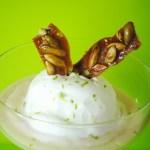 Lime Ice Cream with Guayaba Cream and Pepita Brittle