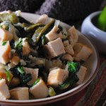 Rick Bayless's Creamy Chicken and Greens with Roasted Poblano and Caramelized Onion