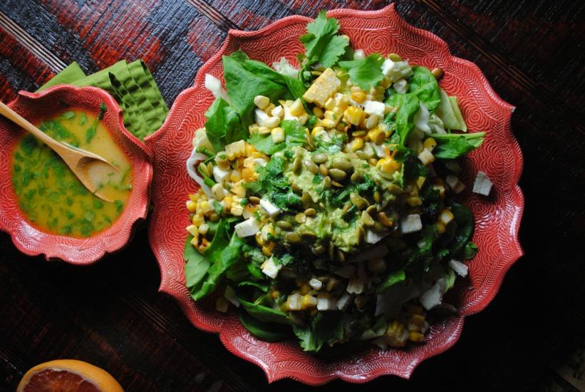 Grapefruit Hummus Salad Dressing
