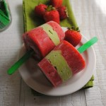 Strawberry Avocado Pops