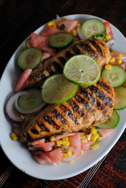 Easy Lime-Garlic Grilled Chicken Breasts