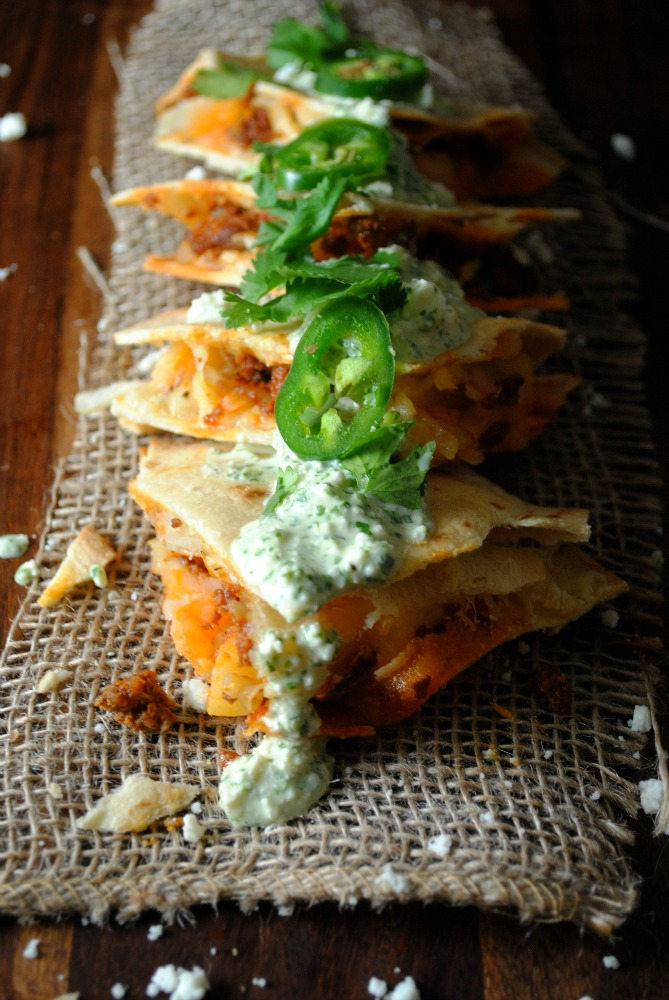 Chorizo and Potato Quesadillas  from sweetlifebake.com
