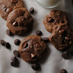 Dark Chocolate Cherry Cookies