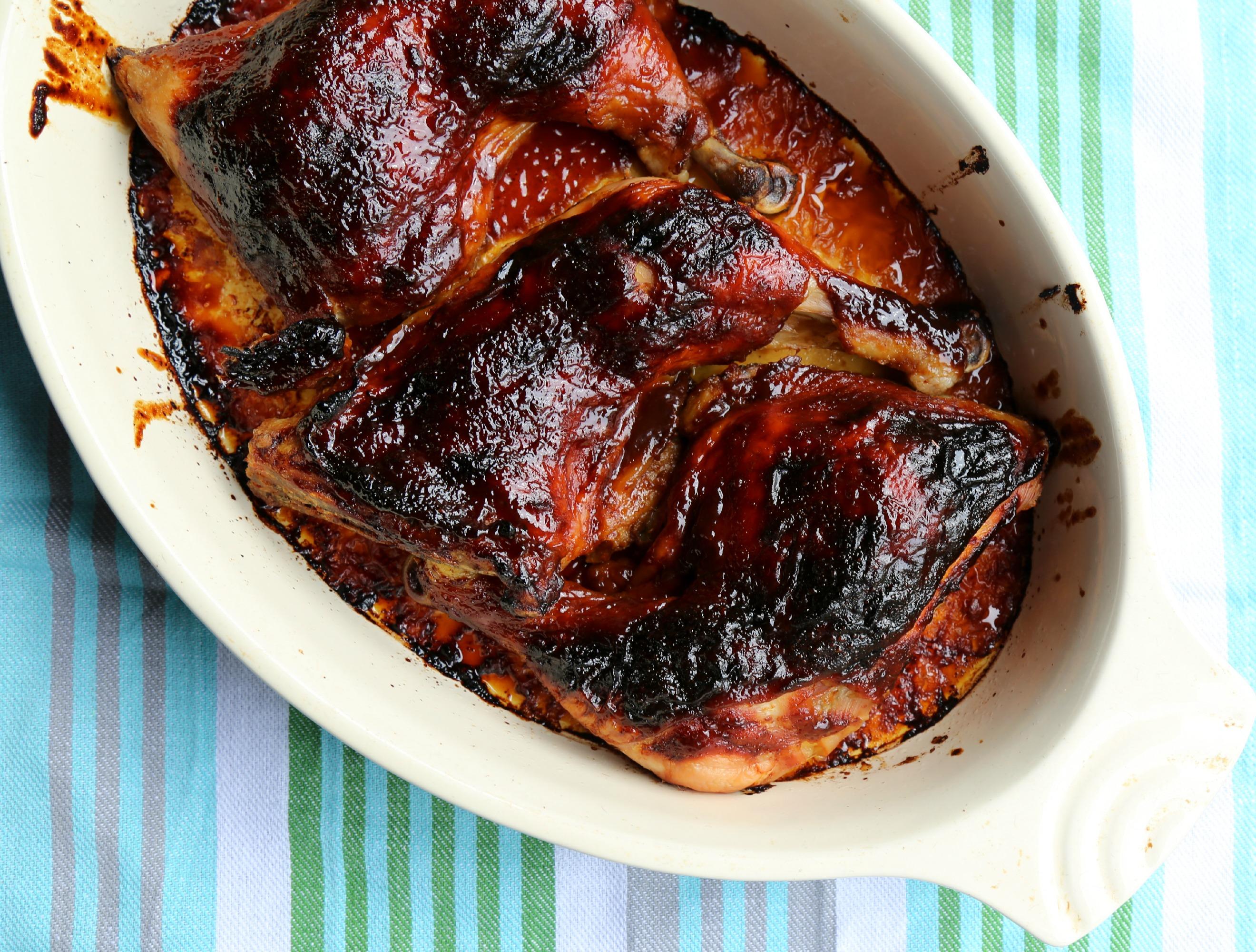 baked-bbq-chicken-easy-coffee-sauce-VianneyRodriguez-sweetlifebake