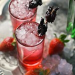 Hibiscus Strawberry Gin Cocktail
