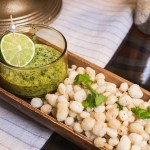 Fried Hominy with Cilantro Pepita Pesto