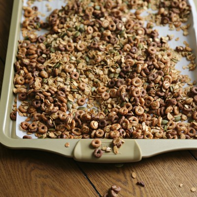 Chocolate Peanut Butter Cheerios Granola