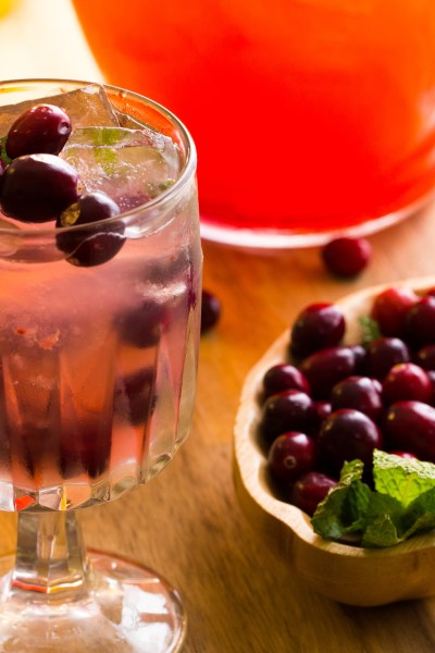 Tangerine Cranberry Pisco Punch