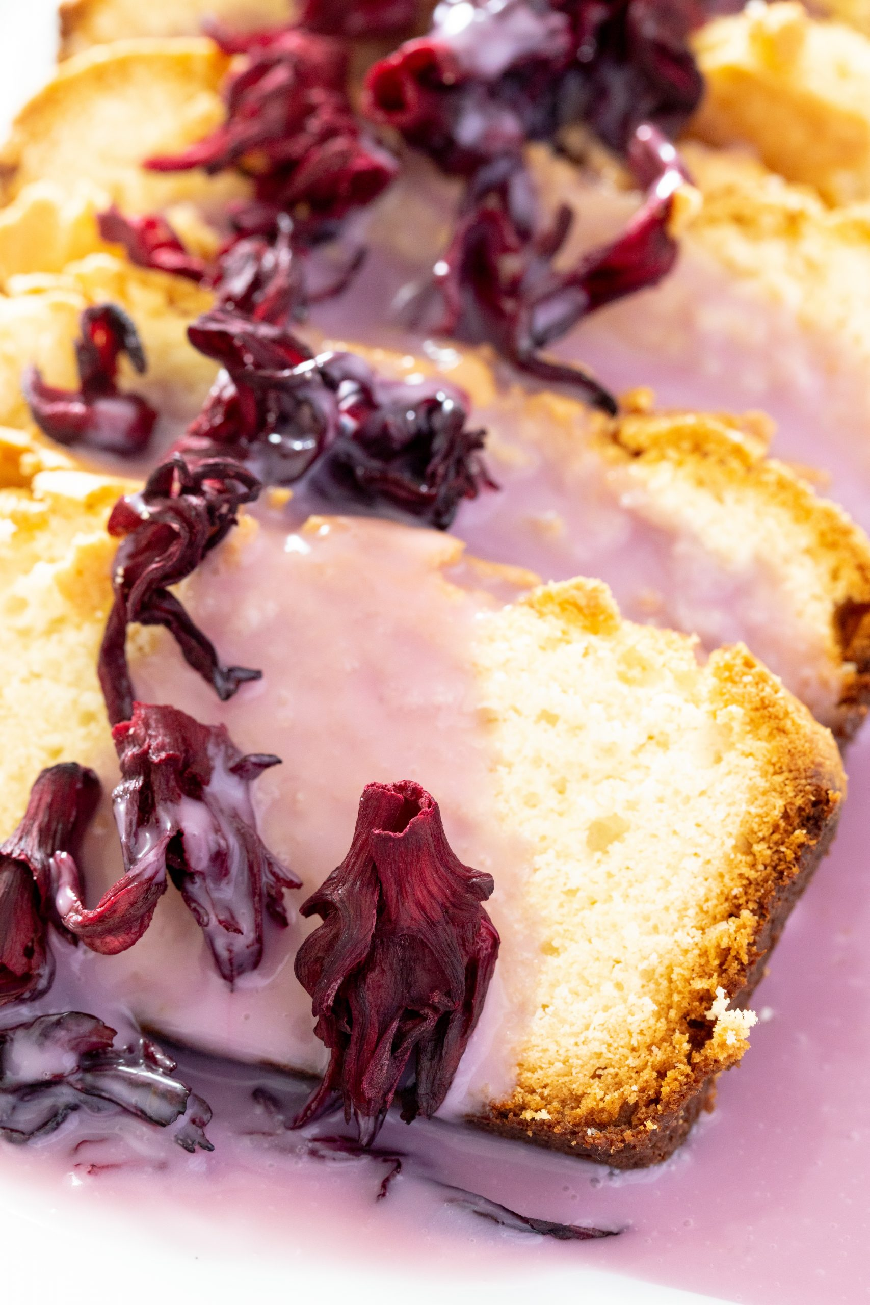 Pound Cake with Hibiscus Glaze
