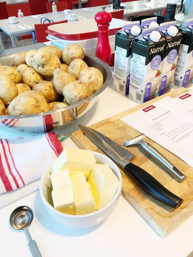 Making Potato Gratin