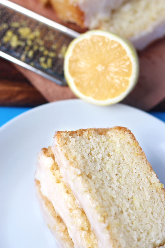 This ridiculously easy lemon loaf topped with a sweet-tart lemon glaze is to die for! This recipe is simple, vegan, and a must have for all lemon lovers!
