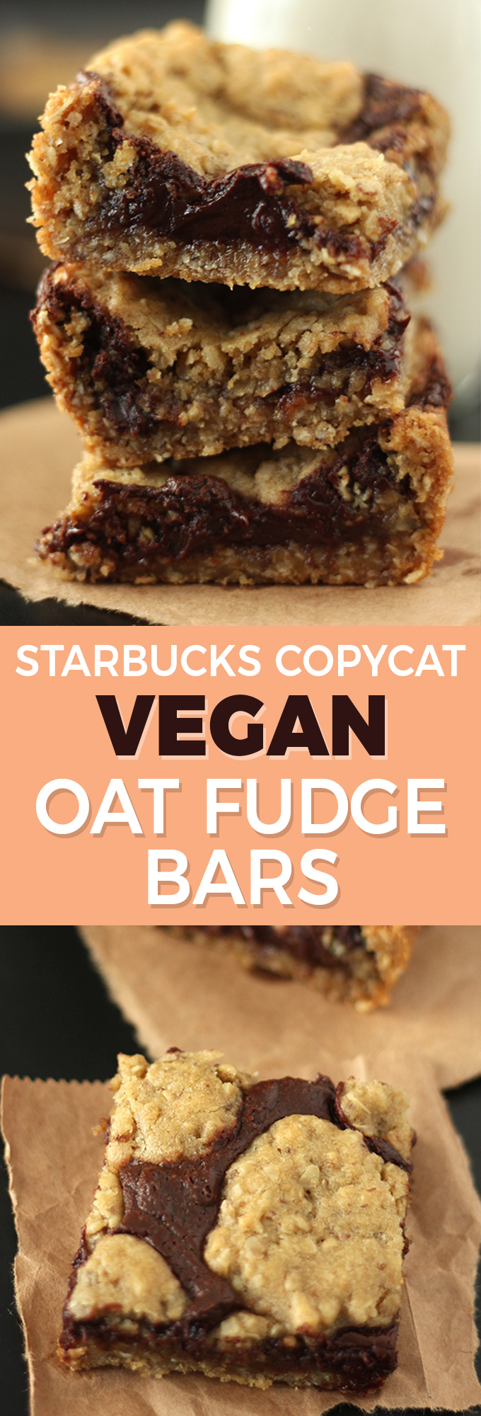 All the rich, chocolatey goodness of your favourite Starbucks Oat Fudge Bars, made totally vegan!