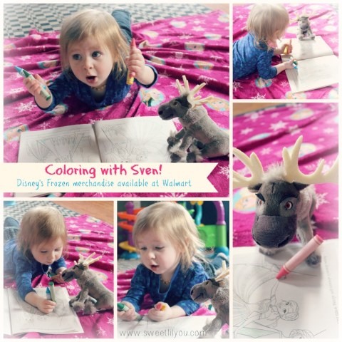 Coloring with Sven the Reindeer from Frozen! Merchandise available at walmart #Disney #FrozenFun #shop #cbias