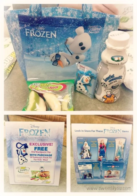 Disney Frozen Kids meals at Subway walmart #FrozenFun #shop #cbias