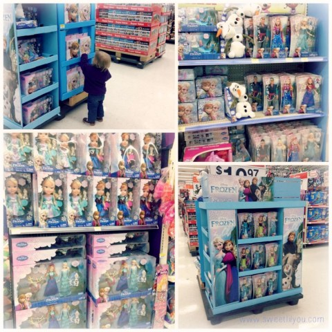 Frozen Disney Merchandise at Walmart Subway #FrozenFun #shop #cbias