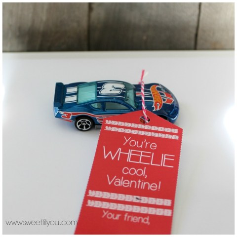 Hotwheels Race Car Valentine for Boys and Girls