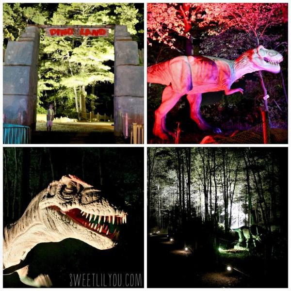 Dinoland at night Edaville