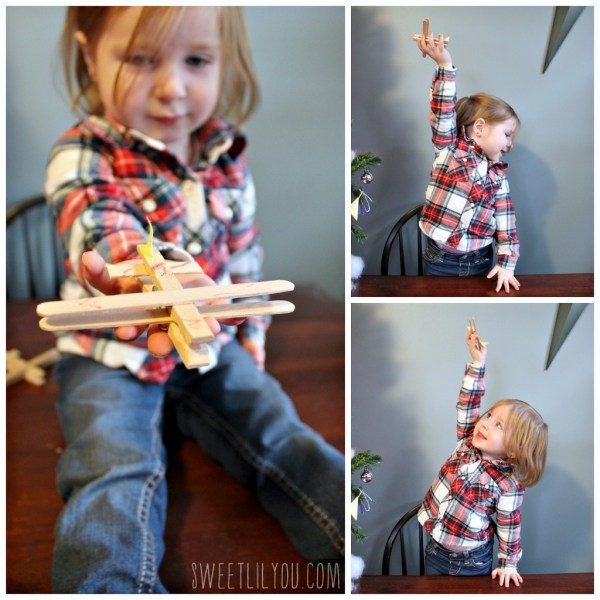 Clothespin airplane ornaments #PlanesToTheRescue #ad