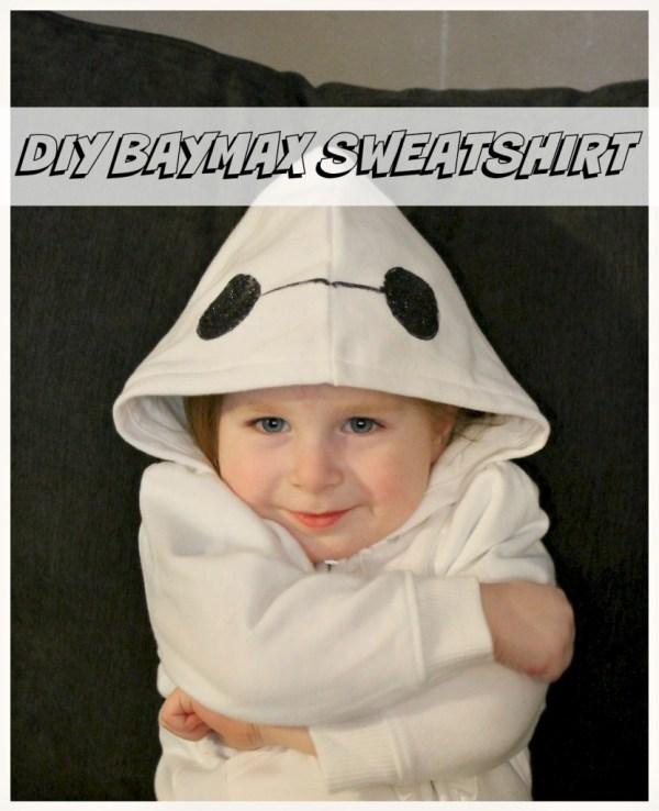 DIY Baymax sweatshirt!