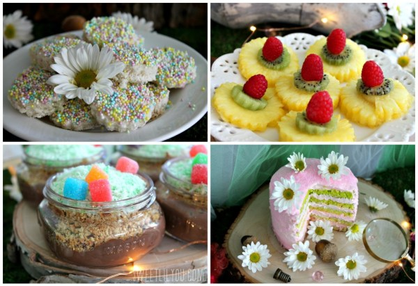 Fun snacks and desserts for a Tinker Bell Fairy Party! From SweetLilYou.com