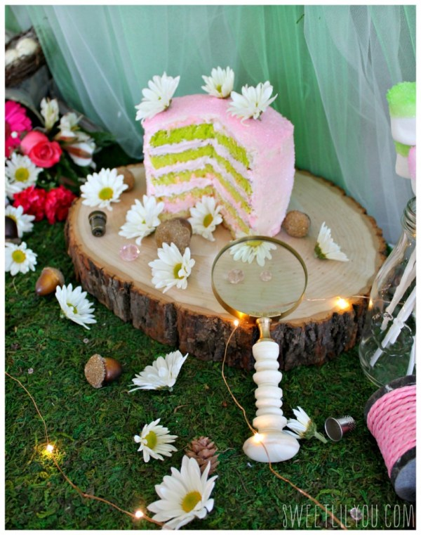 Tinker Bell Ombre Cake! From SweetLilYou.com