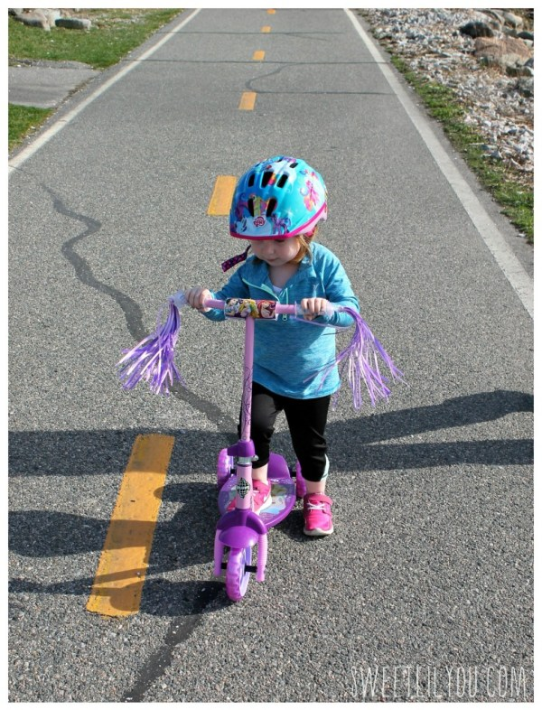 Scooter on the bike path