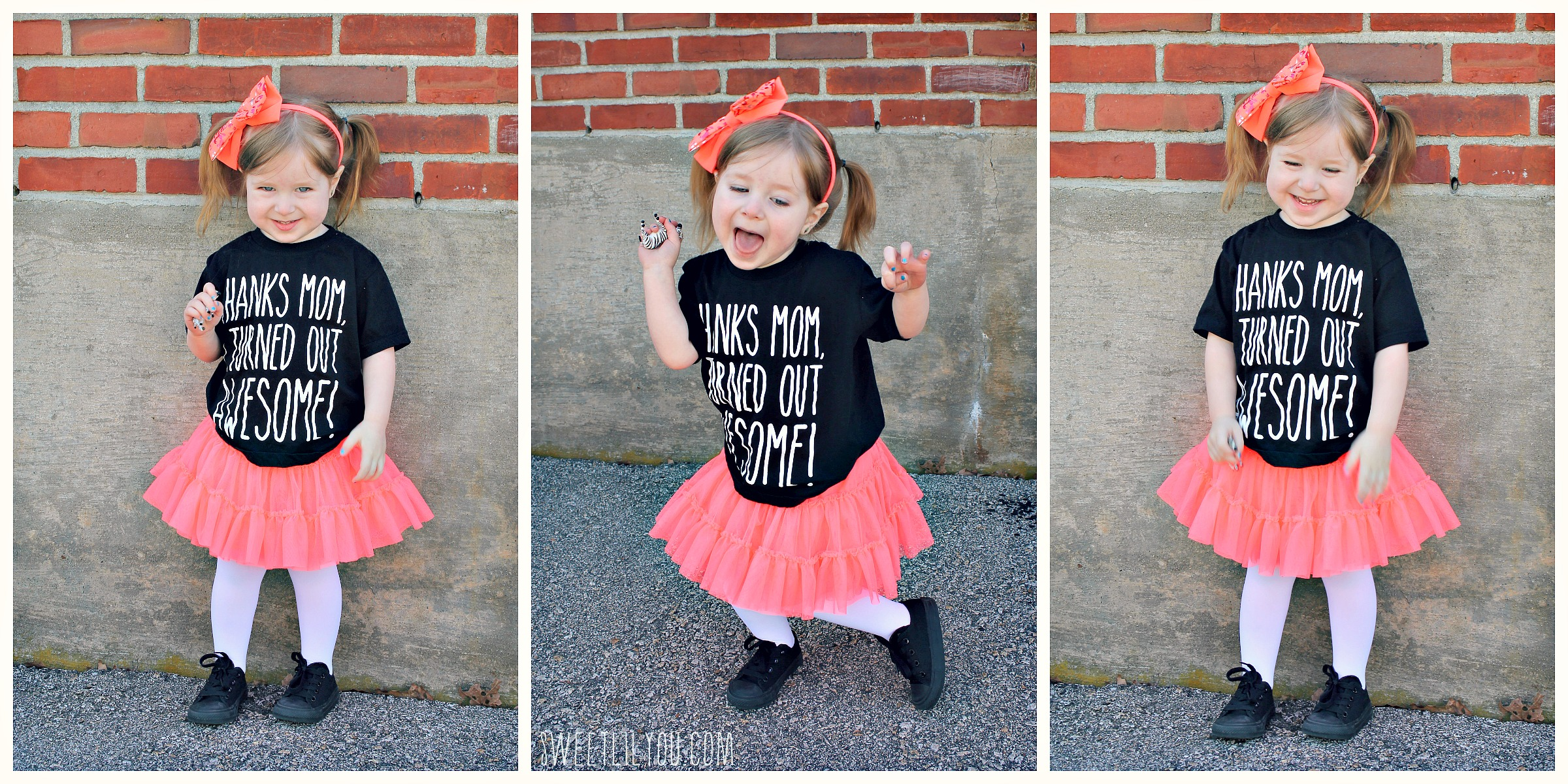 """45a3f3f50 Retro Pink tutu skirt Target Genuine Kids From OshKosh · """"Thanks Mom…"""" Tee  (I ordered from Zulily, but it's made by KidTeez)"""