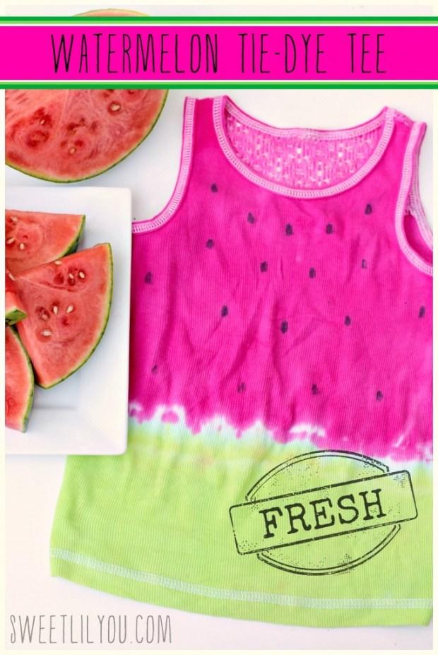 Happy Watermelon Day - DIY Watermelon Tie-Dye Tee
