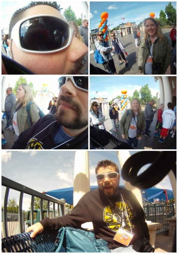 Photos Avery took of us at Six Flags with her nabi HD camera