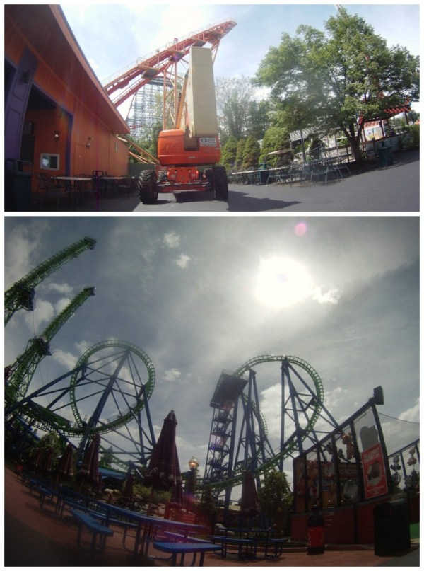 skyjack and coasters at six flags