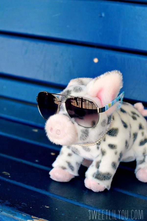 Pig in pearls