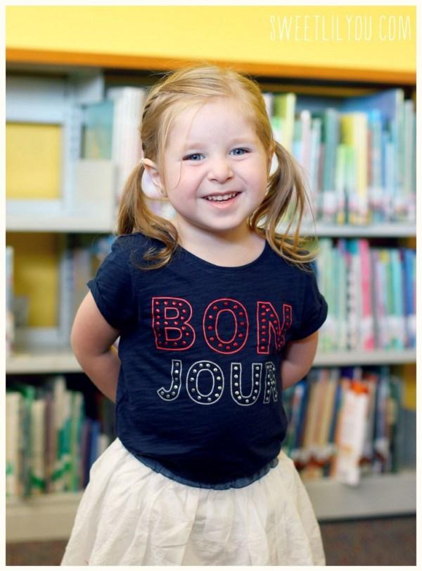 Back to school with Oshkosh - Bon Jour shirt