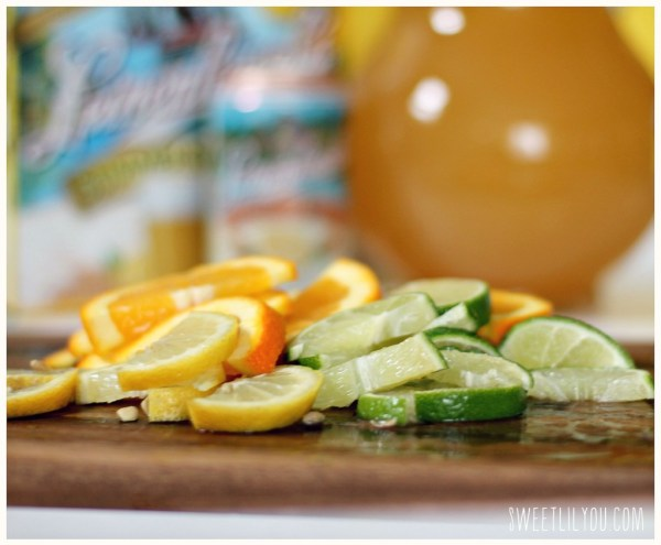Shandy Sangria ingredients - Beer Sangria