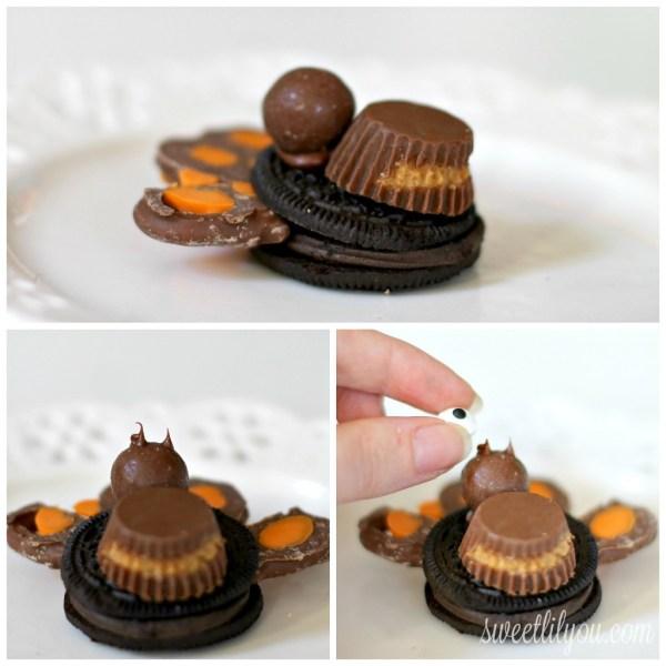 constructing chocolate Thanksgiving Turkey