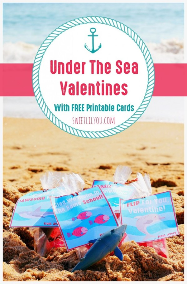 Under The Sea Valentines FREE Printable Cards