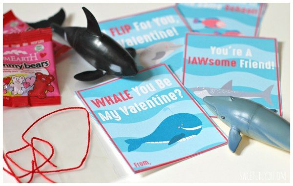 Whale and Shark DIY Valentines