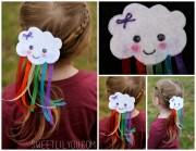 diy rainbow barrette - sweet lil