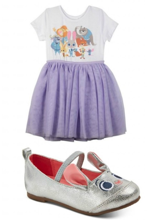 zootopia dress and bunny shoes