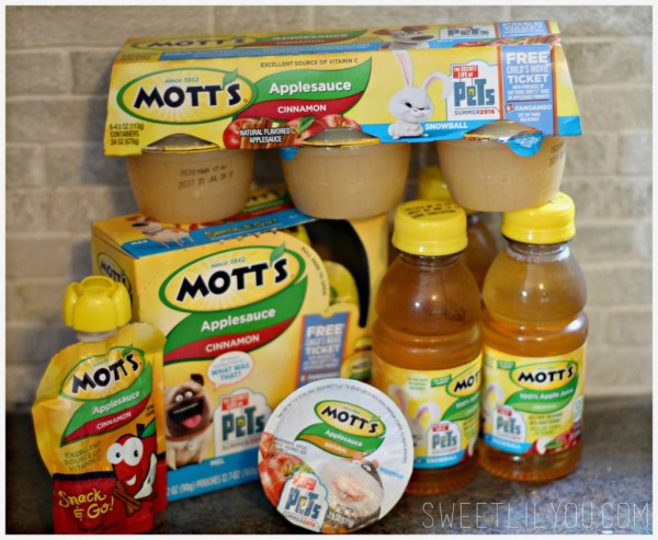 Motts Applesauce and Apple Juice