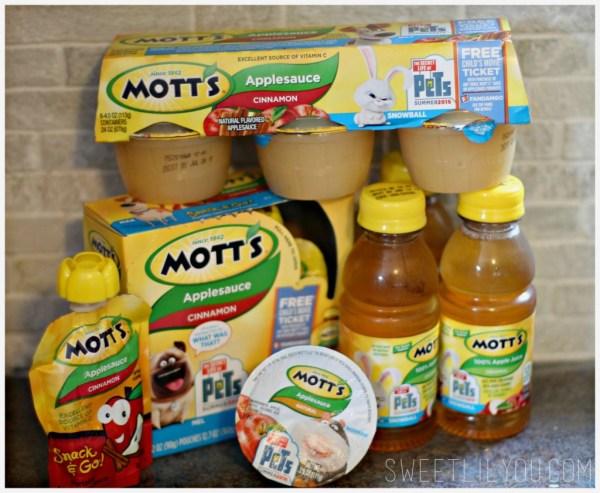 Motts Applesauce and Apple Juice