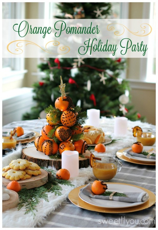 Orange Pomander Holiday Dessert Party