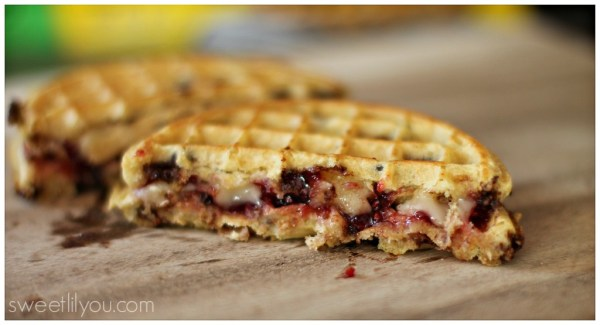 Rasberry Brie Waffle Grilled Cheese