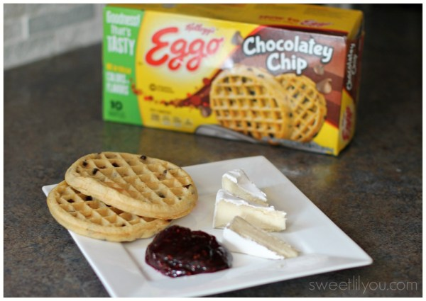 Raspberry and brie waffle ingredients
