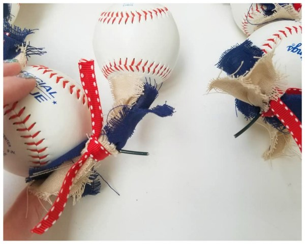 ribbons baseball wreath