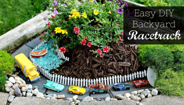 Easy DIY Backyard Racetrack - A fun way for kids to get outside, use their imaginations, and have fun!